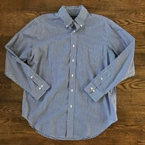 Ralph Lauren Navy Check Dress Shirt